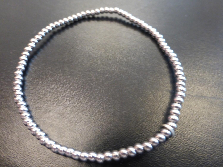 Bracelet en argent 925, boules de 2,5 mm