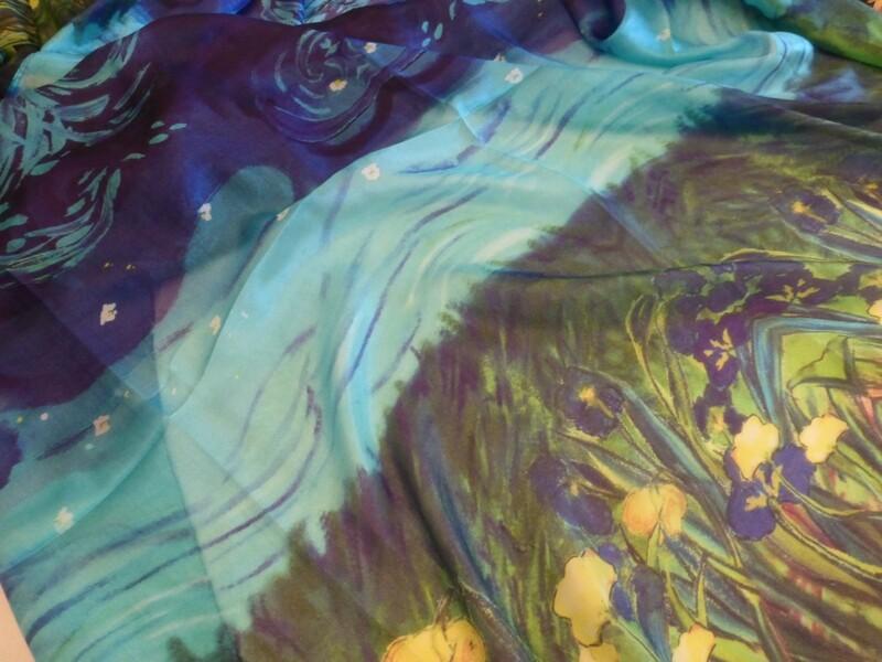 Magnifique étole en soie légère