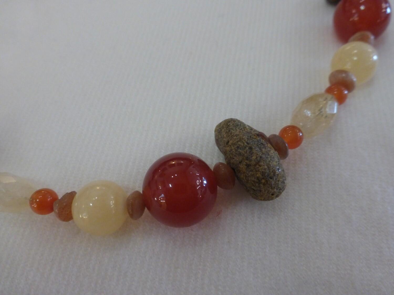 Collier pierres semi-précieuses, chakra sacré