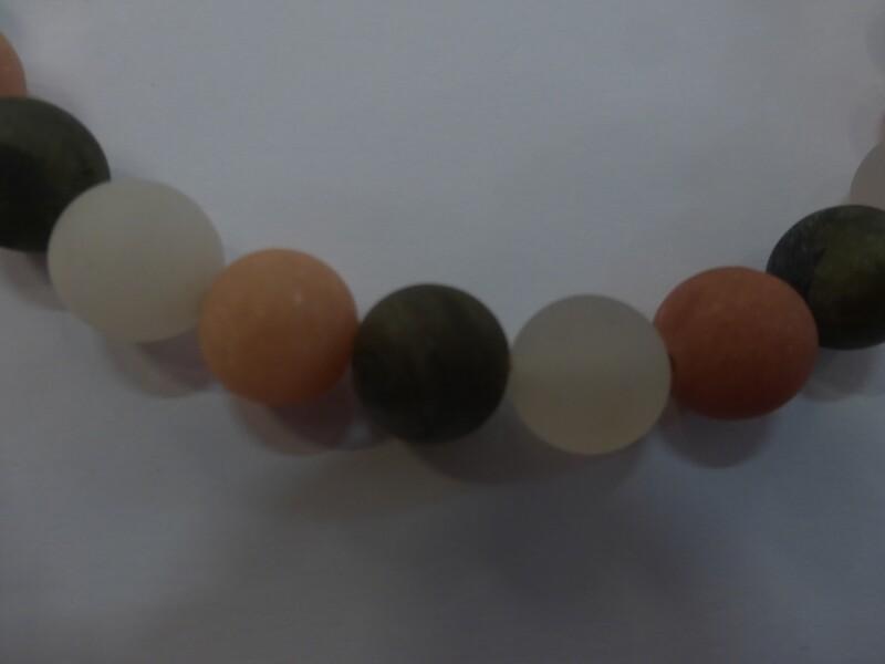 Tour de cou en pierres de lune mates, 45 cm