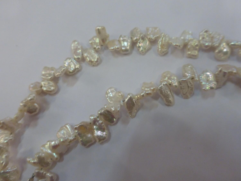 Tour de cou en perles d'eau douce baroques, 46 cm