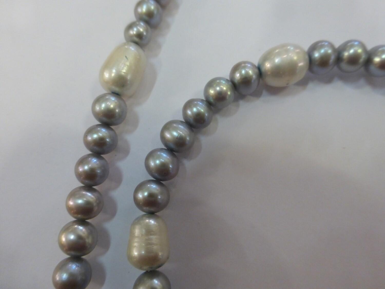 Collier en perles d'eau douce, 47 cm