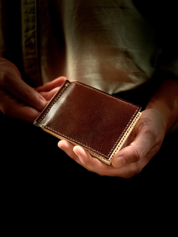 Slim Bifold Wallet with Money Clip DIY Kit