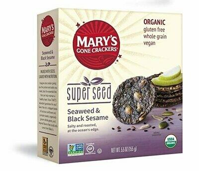MARY'S SUPER SEED SEAWEED BLACK SESAME CRACKERS