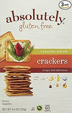 ABSOLUTELY GF CRACKERS TOASTED ONION 4.4 OZ EA
