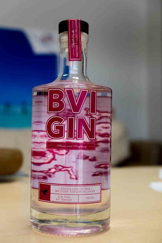 BVI GIN 750ML HIBISCUS RASPBERRY