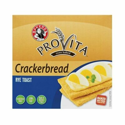 BAKERS PROVITA CRACKERBREAD RYE 125g