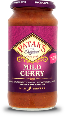 PATAKS MILD CURRY COOKING SAUCE 450G