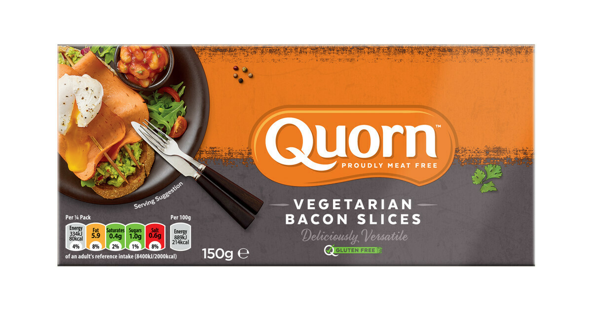 QUORN BACON STYLE RASHERS 150G