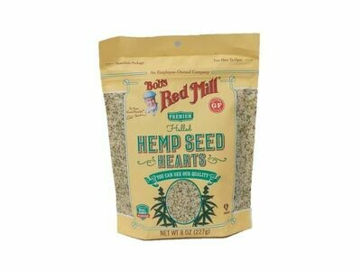 BOBS RED MILL HULLED HEMP SEEDS 8 OZ EA