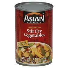 ASIAN GOURMET VEGETABLES STIR FRY 14 OZ