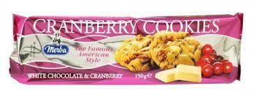 MERBA WHITE CHOC/CRANBERRY COOKIES 175G