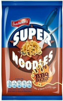 BATCHELORS SUPER NOODLES BBQ BEEF 100G
