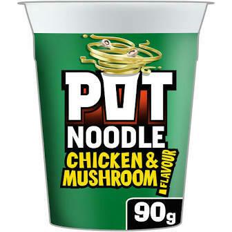 POT NOODLE CHICKEN/MUSHROOM 90G