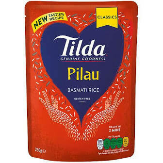 TILDA - STEAMED PILAU BASMATI RICE 250G