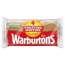 WARBURTONS 4 TOASTING MUFFINS 284G