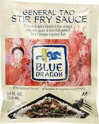BLUE DRAGON GENERAL TSAO'S STIR FRY SAUCE 3.8OZ EA