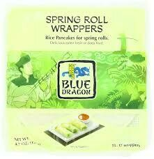 BLUE DRAGON SPRING ROLL WRAPPERS 4.7OZ EA