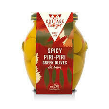 COTTAGE DELIGHT OLIVES SPICY PIRI PIRI 350G