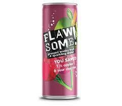FLAWSOME! APPLE & SOUR CHERRY BUBBLY CAN