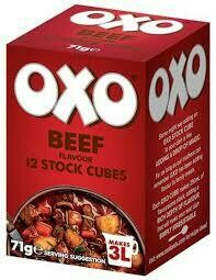 OXO CUBES BEEF 12S