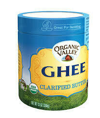 ORGANIC VALLEY GHEE (CLARIFIED BUTTER)