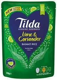 TILDA - STEAMED LIME & CORIANDER BASMATI RICE