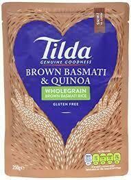 TILDA - STEAMED PILAU QUINOA  AND BROWN RICE  250G