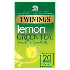 TWININGS GREEN & LEMON TEABAGS 20S