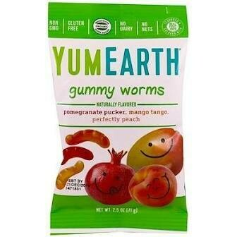 YUM EARTH - ORGANIC GUMMY WORMS 2.5 OZ