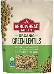 ARROWHEAD MILLS GREEN LENTILS 16OZ EA