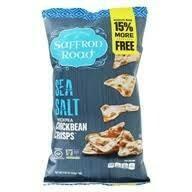 SAFFRON ROAD CHICKBEAN CRISPS SEA SALT 4.03 OZ EA