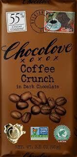 CHOCOLOVE - COFFEE CRUNCH DARK CHOCOLATE