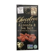 CHOCOLOVE - DARK CHOC ALMOND  BAR 3.2 OZ