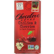 CHOCOLOVE -   DARK CHOC CHILLIE & CHOC S3.2 OZ