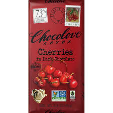 CHOCOLOVE - CHERRY & ALMOND IN DARK CHOCOLATE
