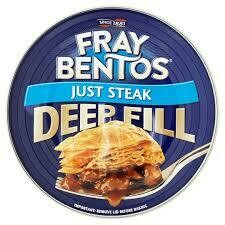 F/BENTOS JUST STEAK PIE 475G