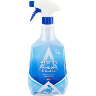 ASTONISH WINDOW & GLASS CLEANER 750ML