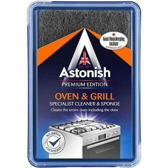 ASTONISH OVEN & GRILL CLEANER & SPONGE 250G