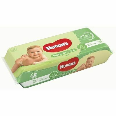 HUGGIES BABY WIPES NATURAL CARE WITH ALOE VERA 56S