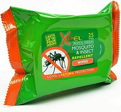 XPEL MOSQUITO REPELLENT WIPES 20S
