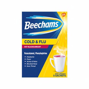 BEECHAMS COLD AND FLU HOT BLACKCURRANT