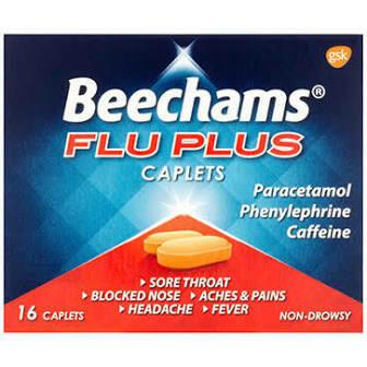 BEECHAMS FLU PLUS CAPLETS 8S