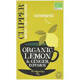 CLIPPER ORGANIC INFUSION LEMON AND  GINGER TEA BAG 20S