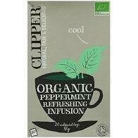 CLIPPER ORGANIC INFUSION PEPPERMINT TEA BAGS 20S