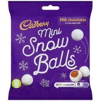 CADBURY MINI SNOW BITES BAG 80G