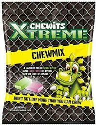CHEWITS  EXTREME CHEWY MIX BAG  125G