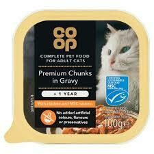 CO OP ADULT CAT PREMIUM CHUNKS IN GRAVY 100G