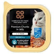CO OP ADULT CAT PREMIUM CHUNKS IN JELLY 100G