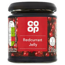 CO OP REDCURRANT JELLY 220G
